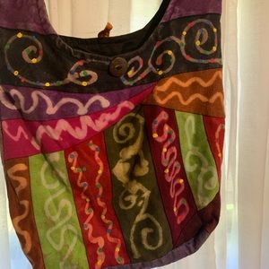 Handmade and Hand-dyed Purse Made in Nepal!
